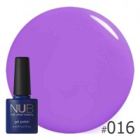 Гель-лак NUB THE COLOR PURPLE 016, 8 ml