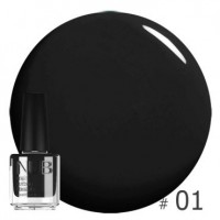 Лак NUB BLACK INK 01, 14 ml