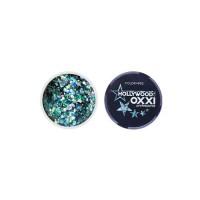 Гель-краска Oxxi Glitter Gel Hollywood №05  (цвет Бирюзовый), 5 г