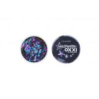 Гель-краска Oxxi Glitter Gel Hollywood №03  (цвет Фиолетовый), 5 г