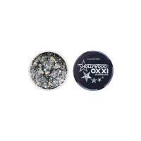 Гель-краска Oxxi Glitter Gel Hollywood №06 (цвет Серебро), 5 г