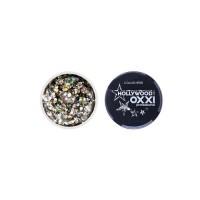 Гель-краска Oxxi Glitter Gel Hollywood №08 (цвет Белое золото), 5 г