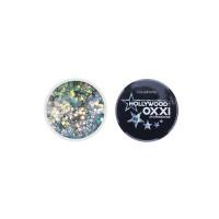Гель-краска Oxxi Glitter Gel Hollywood №10 (цвет Серебро с голубым), 5 г