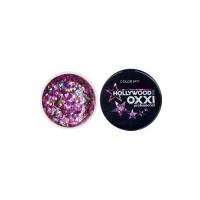 Гель-краска Oxxi Glitter Gel Hollywood №11 (цвет Сиреневый), 5 г