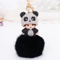 Брелок Manchichi Панда черно-белый