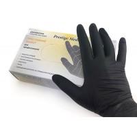 Перчатки Prestige L Мedical без пудры, текстурированные, черные 100 штук
