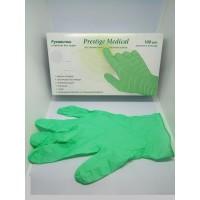 Перчатки Prestige XS Мedical без пудры, текстурированные, мятные 100 штук