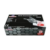 Перчатки нитриловые неопудренные Lidopack M, черные, Малайзия, 100 шт/ уп