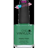 Лак для ногтей CND VINYLUX #210 ART BASIL (зеленый с золотым микроблеском) 15 мл