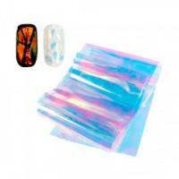 Фольга эффект *битое стекло* классическая для декора ногтей 33х4 см