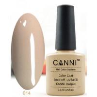 Гель-лак CANNI №014 (тёмно-бежевый, эмаль), 7,3 мл