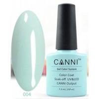 Гель-лак CANNI №004 (нежно-голубой, эмаль), 7,3 мл