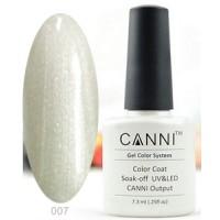 Гель-лак CANNI №007 (прозрачный эффект с серебряным перламутром), 7,3 мл