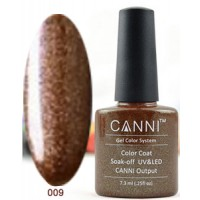 Гель-лак CANNI №009 (плотный бронзовый цвет, перламутр с мелким блеском), 7,3 мл