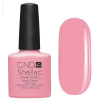 Гель-лак CND Shellac Blush Teddy (cветло-розовый, с легким неоновым отливом и нежным перламутром), 7,3 мл