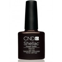 Гель-лак CND Shellac Faux Fur (шоколадно-коричневый без перламутра), 7,3 мл