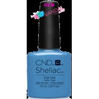 Гель-лак CND Shellac Digi-teal (ярко-голубой, эмаль), 7,3 мл