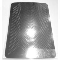 Металлизированная наклейка М-002 СЕРЕБРО