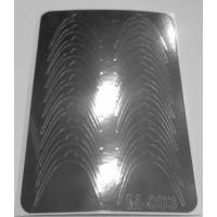 Металлизированная наклейка М-003 СЕРЕБРО