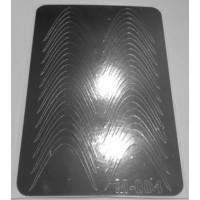 Металлизированная наклейка М-004 СЕРЕБРО