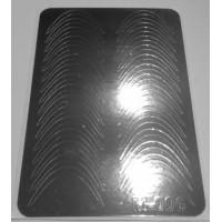 Металлизированная наклейка М-006 СЕРЕБРО