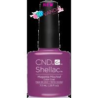 Гель-лак CND Shellac Magenta Mischief (фиолетово-розовый с сиреневым микроблеском), 7,3 мл