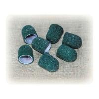 Колпачек d 13 мм наждачный педикюрный зеленый 60 грит