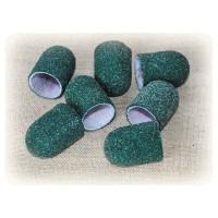 Колпачек d 16 мм наждачный педикюрный зеленый 60 грит