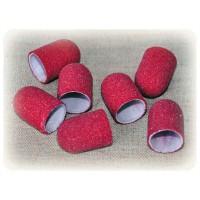 Колпачек d 13 мм наждачный педикюрный  красный 80 грит