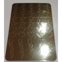 Металлизированная наклейка М-005 ЗОЛОТО
