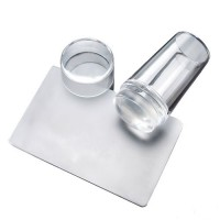 Прозрачная силиконовая печать для стемпинга