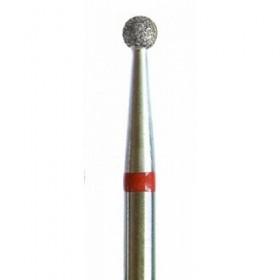 Насадка алмазная *сфера* красная Р801f040 d 4 мм