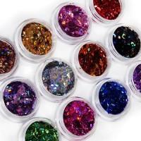 Ромбики набор 12 цветов для декора ногтей