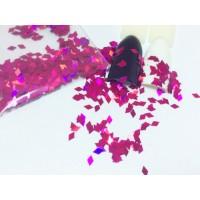 Ромбики для дизайна ногтей. Цвет: малиновый