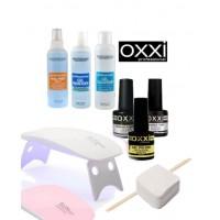 Стартовый набор OXXI Professional для покрытия гель-лаком с лампой SUN mini