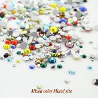 Стразы для ногтей MIX размеров и цветов копии Swarovski 1440 шт