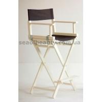 Стул для макияжа раскладной (кресло визажиста), цвет:белый