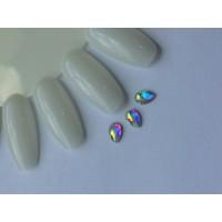 Стразы crystal AB капля №33-4-6 (упаковка 6шт.)