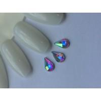 Стразы crystal AB капля №33-5-8 (упаковка 6шт.)