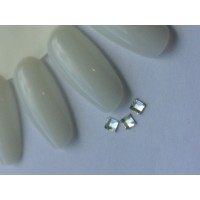 Стразы crystal AB квадрат №01-3-3 (упаковка 6шт.)