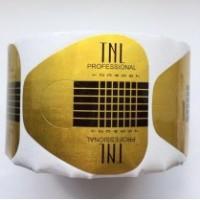 Формы для наращивания ногтей широкие TNL, 500 шт.