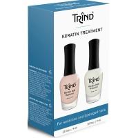 Набор для защиты и восстановления ногтей с кератином Trind Keratin Treatment Set 18 мл (2х9 мл)