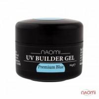 Строительный гель Naomi - UV Builder Gel Premium Blue, 14г