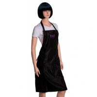 Фартук KODI черный с фиолетовым логотипом (длинный)