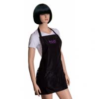 Фартук KODI черный с фиолетовым логотипом (короткий)