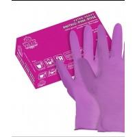 Перчатки VitLux размер S без пудры, текстурированные, розовые 100 штук
