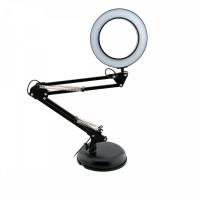 Настольная LED лампа для маникюра FRENCH 8W КОЛЬЦО 105 *(USB) (ЧЕРНАЯ)